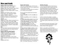 RPG Item: War and Craft