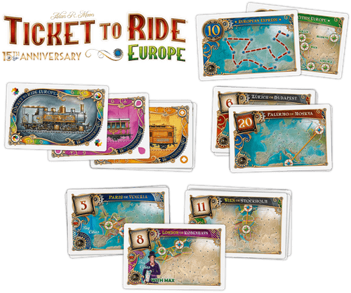 Board Game: Ticket to Ride: Europe – 15th Anniversary