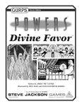 RPG Item: GURPS Powers: Divine Favor