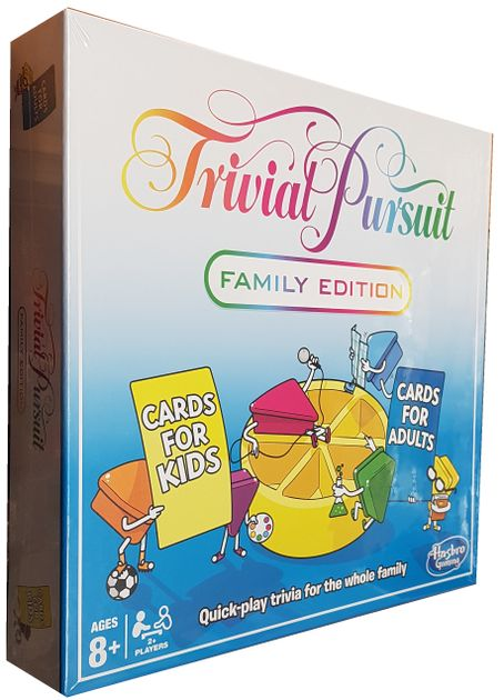 Board game trivial pursuit family edition-hasbro 2001