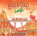 Board Game: Railroad Ink: Blazing Red Edition