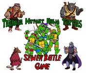 Board Game: Teenage Mutant Ninja Turtles: Sewer Battle Game