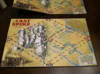 """Paper version of map mounted on a """"Euro""""-style board. Standard board at top."""