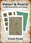RPG Item: Print & Paste 2.5D Dungeon Textures: Cave Tiles