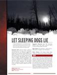 RPG Item: Let Sleeping Dogs Lie