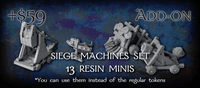 Board Game Accessory: The Exiled: Siege – Siege Machines Set