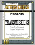 Issue: Action Check (Transmissions)