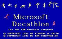 Video Game: Olympic Decathlon