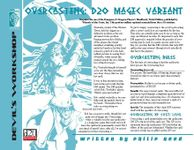 RPG Item: Overcasting: D20 Magic Variant