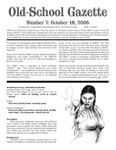 Issue: Old-School Gazette (Issue 7 - Oct 2006)