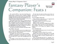 RPG Item: Fantasy Player's Companion: Feats 1