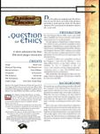 RPG Item: A Question of Ethics