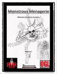 RPG Item: Monstrous Menagerie Volume I