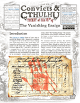 RPG Item: Convicts & Cthulhu: Ticket of Leave #04: The Vanishing Ensign