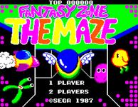 Video Game: Fantasy Zone: The Maze