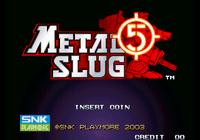 Video Game: Metal Slug 5