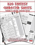 RPG Item: D20 Fantasy Character Sheets Volume 3: Arcana Evolved