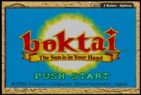 Video Game: Boktai: The Sun Is in Your Hand
