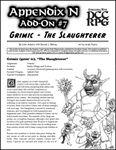 RPG Item: Appendix N Add-On #7: Grimic The Slaughterer