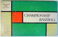 Board Game: Championship Baseball
