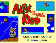 Video Game: Alex Kidd in Miracle World