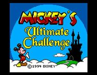 Video Game: Mickey's Ultimate Challenge