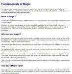 RPG Item: Fundamentals of Magic