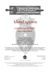 RPG Item: Blood Spawn: Creatures of Light and Shadow