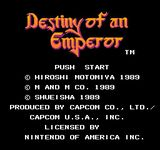Video Game: Destiny of an Emperor