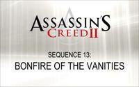 Video Game: Assassin's Creed II: Bonfire of the Vanities