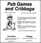 Video Game Compilation: Pub Games and Cribbage