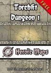 RPG Item: Heroic Maps: Torchlit Dungeon 1