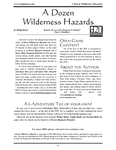 RPG Item: A Dozen Wilderness Hazards