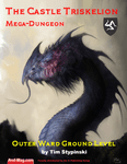 RPG Item: The Castle Triskelion Mega-Dungeon: Outer Ward Ground Level