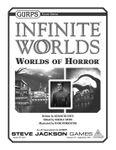 RPG Item: GURPS Infinite Worlds: Worlds of Horror
