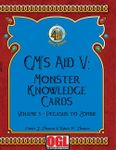 RPG Item: GM's Aid V: Monster Knowledge Card Volume 3 - Pegasus to Zombie