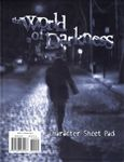 RPG Item: World of Darkness Character Sheet Pad