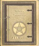 RPG Item: Authentic Thaumaturgy (First Edition)