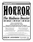 RPG Item: GURPS Horror: The Madness Dossier