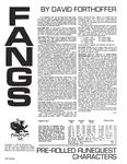 RPG Item: Fangs