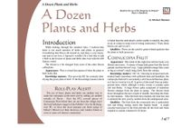 RPG Item: A Dozen Plants and Herbs