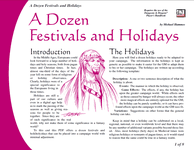 RPG Item: A Dozen Festivals and Holidays