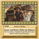 Board Game: Die Siedler von Catan: Das Kartenspiel – Sonderkarte 2008 – Gustav und Reiner, Helfer der Ratlosen