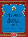 RPG Item: GM's Aid III: Monster Knowledge Cards Volume I - Aboleth to Fungus