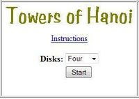 Video Game: Towers of Hanoi