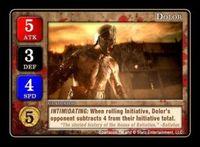 Board Game: Spartacus: Dolor Promo Card