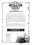 Issue: Lone Wolf Club Newsletter (Issue 5 - 1986)
