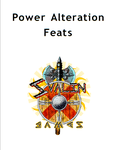 RPG Item: Power Alteration Feats