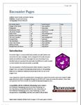 RPG Item: Encounter Pages