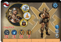 Board Game: Might & Magic Heroes: Crag Hack the Barbarian